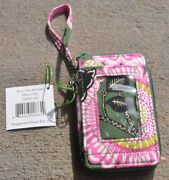 Vera Bradley All In One Wristlet In Olivia Pink - Nwt And From Smoke Free Home