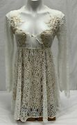 For Love And Lemons Vintage Lace Mini Dress Front Closure White Womenand039s Size M