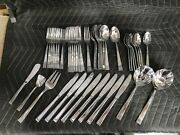 Vintage 45 Pc Total Towle 18/8 Stainless Steel Flatware - Serving Set