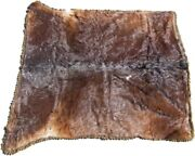 Fantastic Antique Old West Cowhide Sleigh/carriage Blanket - 68 By 60 Inches