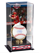 Mike Trout Los Angeles Angels Signed Baseball 2018 Mlb All-star Game Display