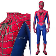 Original Toby Spiderman Costume High Quality Polyester Stereo Coating Line Suit