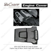 Dcf For 14-15 R8 V8 V10 Coupeandspyder Engine Coverandmotor Shield Cover W/ Letters