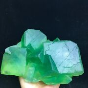 2275grare Transparent Granules Of Large Green Cubic Fluorite Crystals