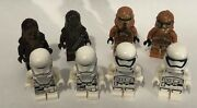 Star Wars Lot Of 8 Lego Mini Figures Storm Troopers Chewbacca
