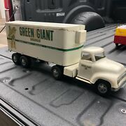 """Vintage Tonka Semi Tractor Trailer Green Giant 1955 Complete Toy Nice 24"""""""