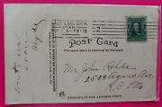 Benjamin Franklin 1 Cent Stamp On Rare Postcard 1908 Post Marked And Hand Dated