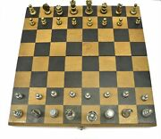 Rare Hector Aguilar Sterling Silver Chess Set Mexican Silver