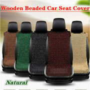 Car Natural Wooden Beaded Seat Cover Non-fading Massage Pad Cool Car Cushion