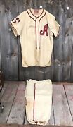 1940s South Portland Maine Baseball Uniform Sold By Bailey Co. Excellent Cond