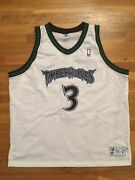 Authentic 1997-98 Minnesota Timberwolves Stephon Marbury Home White Jersey 54