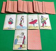 Old Antique Italian Pietro Barelli Card Game Hand Coloured Playing Cards Rare
