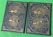 2 X Old Antique Willis Bezique Registers Playing Cards Game Markers Scorers 3