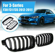 Front Kidney Grille Grill Fit For F30 F31 F35 F80 3-series 20122018 Gloss Black