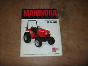 Mahindra 2615 4wd Tractor Owner Operator Maintenance Manual User Guide