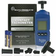 Bafx Products Handheld Digital Contact Tachometer/wheel Meter For Reading Rpm