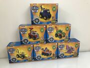 Paw Patrol Lot Of 6 Dino Rescue Deluxe Vehicle And Figures Collection Zuma Rocky +