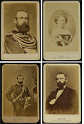 King Carl/karl/charles Xv Sweden Norway With Queen Louise 4 Photos Cdv 1860s