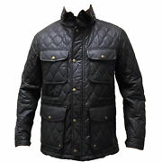 Coach Wyatt Field Jacket 83740 Menand039s Quilted Dark Brown Utility Coat Small. 498