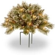 Artificial Plant 36 In Glittery Bristle Pine Urn Battery Operated Led Lights