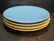 Hausenware Dinner Plates Solid Colors Blue Yellow Green