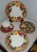 20pc Pier 1 Mosaic Fruit Dinnerware Plates Bowls Cups Saucers Italy