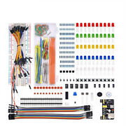 830 Point Solderless Breadboard 65 Pcs Jumper Cable Mb-102 Power Supply Module .