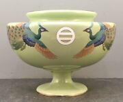 Museum Japanese Meiji Cloisonne Ikebana Vase W/ Gold Wire By Inaba