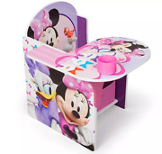 Disney Minnie Mouse Upholstered Chair With Desk And Storage Bin