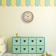 20xsilent Non Ticking Kids Wall Clock Battery Operated Colorful Decorative
