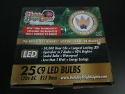 Holiday Bright Lights Led C9 White 25 Count Replacement Christmas Light Bulbs