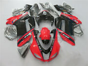 Injection Red Black Fairing Fit For Ninja Zx-6r 2007-2008 Bodywork Kit Cowl Aak