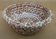 Gently Used Gerald Henn Pottery 6-1/2 Ceramic Cereal Soup Bowl Brown Spongeware