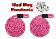Pink Boating Fender Lines - 5/8 X 8and039 - Sold In Pairs - Made In The Usa