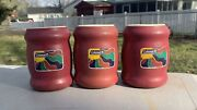 Lot Of 3 Coleman Tuffoams Foam Insulated Beer Soda Can Vintage Koozie Nice