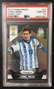 2014 Panini Prizm 12 Lionel Messi World Cup Psa Gem Mt 10 - Fast Shipping