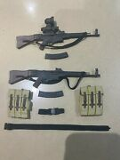 Dragon Action Figure - 2 X German Stg 44 And Ammo Belts