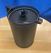 Tupperware Classic 2 Quart Jet Black Pitcher With Push Button Seal New