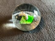 Dynasty Gallery Caterpillar On Leaf Heirloom Collectibles Orb Paperweight Art
