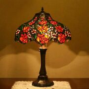 Table Lamp European Creative Art Stained Glass Room Bedside And Home Decorations