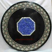 3and039x3and039 Marble Table Top Center Coffee Home Decor Inlay Pietra Dura Antique A32