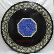 30and039and039 Marble Table Top Center Coffee Home Decor Inlay Pietra Dura Antique A32