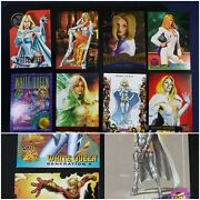 Lot Of 11 White Queen Emma Frost Marvel Trading Card Universe Masterpiece Xmen