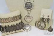 Silver Coin Jewelry Us, Foreign Coins Jewelry 8 Asst Pcs 179.8gr 20735