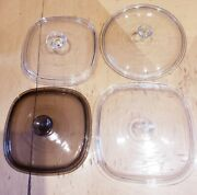 Pyrex Glass Lids Set Of 3 Otger Lid Is Unknown Brand