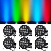 6pcs Stage Par Light Rgbw Dmx512 120w 4in1 Led Color Mixing Washer Lamp Disco