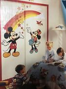 Vintage Disney Mickey And Minnie Mouse Wall Decoration Stickers - Priss Prints Nib