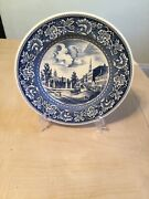 Wedgwood Old New York Blue Transferware Broadway Chatham St City Hall Plate