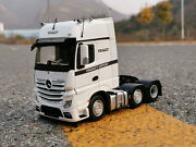 1/32 Scale Mercedes Benz New Actros Mp4 Truck Tractor White Diecast Model Toy
