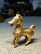 Chinese Gilt Bronze Horse Figurines Animal Horse Statues